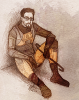 Gordon Freeman by TwinklePowderySnow