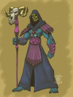 MOTU: Skeletor Redesign by azrael-al10