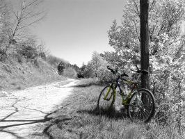 Alone, but with my bike by simone83