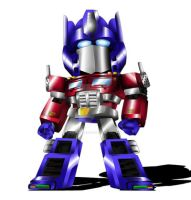 Optimus Prime Chibi by ExoroDesigns