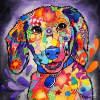 flower dog by DariaGALLERY