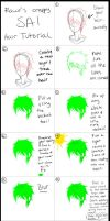 Paint Tool SAI:  Hair Tutorial by RawrTheDino