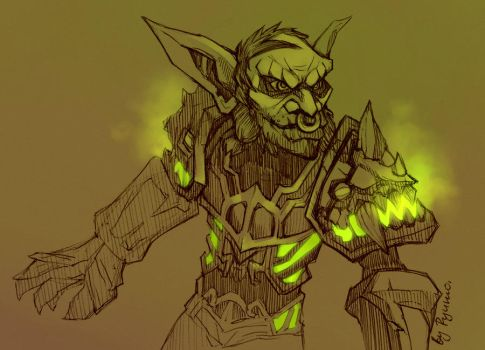 WoW: Goblin sketch by ryumo