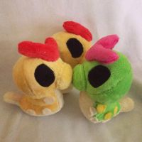 Three Caterpie Palm Plush by GlacideaDay