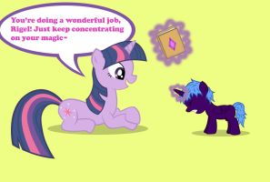 Twilight Teaches Rigel by Dandric101