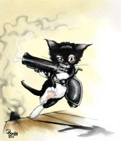 --Kitty Got a Gun-- by StudioSmugbug