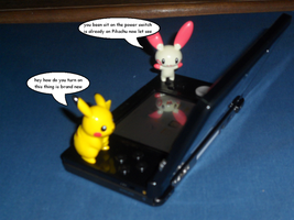 Plusle and Pikachu use 3DS 1 by efilvega
