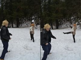 A Kuroshitsuji Winter - SNOWBALL FIGHT! by Lulu-Heartnet