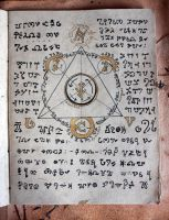 The Alchemical journal of Thomas Anzeray art page by ashblackthorn