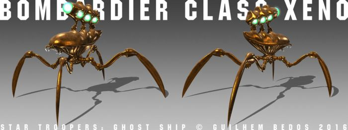 Bombardier Class Alien Bug by Guilhem-Bedos