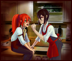 Love is in the kitchen by Saya1984