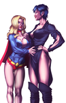 Commission : Supergirl and Ursa colored by artoftheman