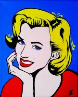 Marilyn Monroe Pop Art by Olilolly11