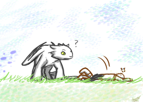 SS: February 2012 Toothless and Hiccup by Domisea