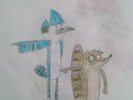 Mordecai and Rigby Colored by brandonale