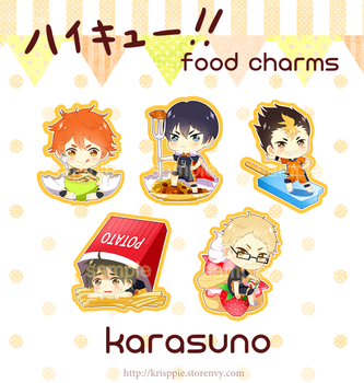 Haikyuu!! Food Phone Charms by krisppie