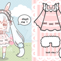 [CLOSED] Easter Special Chibi Adoptable by mintycatart