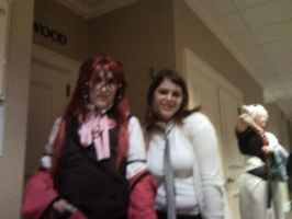 MTAC 2011 Cosplay Me and Grell by KyraAnimeLuver12