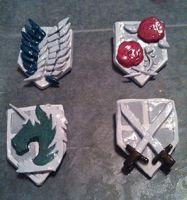 Attack on Titan Corps Badges by SpellerB