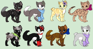 Point Adoptables :OPEN: 5 left by Speckledleaf