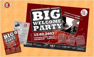 + big welcome party. by tomson