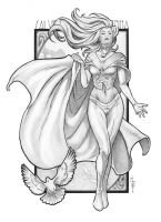 Emma Frost - graphite by ChrisEvenhuis