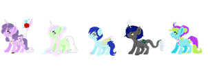 Jar Pony OC's by PandoraRose22