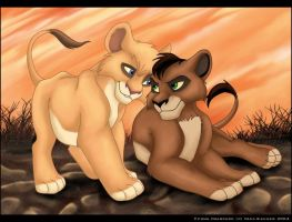Kovu and Vitani Sib Lov by charfade