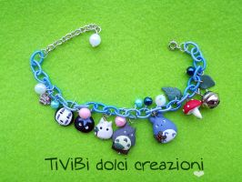 Totoro and No-Face for last Studio Ghibli Bracelet by tivibi