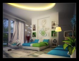 master bedroom by q-tinkdesign