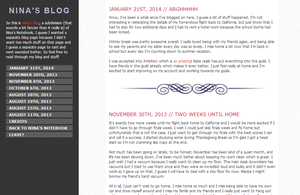 nina's blog layout by nscangel