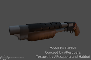 TF2 Shotgun Marmoset Render by Habboi