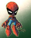 Red J Lil Spidey painted by dcjosh
