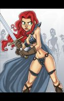 red sonja vs the undead by GarrettART