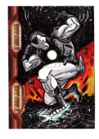 IRON MAN 2 sketchcards- 1 by JasonLatour