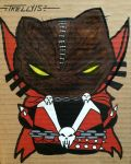 Spawn al Simmons kitty by artist Tom Kelly by TomKellyART