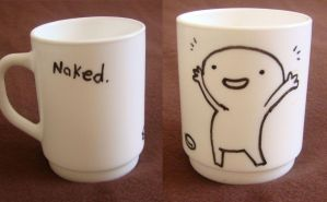 """naked"" mug by bwaisohf"