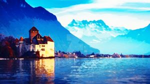 Switzerland - Water Colour by Joshzx