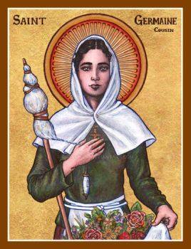 St. Germaine Cousin icon by Theophilia