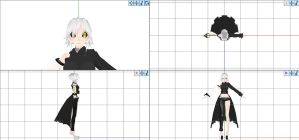 MMD Another Glados WIP by MochaMonet