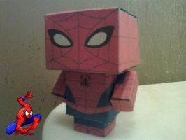 Classic SpiderMan Cubee Finished by rubenimus21