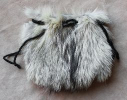 Badger Fur Pouch by lupagreenwolf