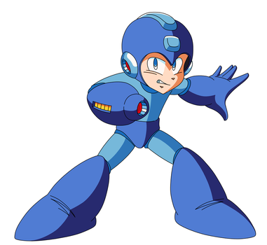Mega Man Free Use Artwork by ZEDIC0N