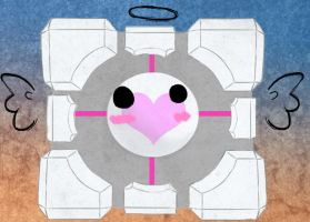 Companion cube by thatcoldmask