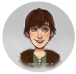 Httyd - Hiccup Headshot by Dorinootje