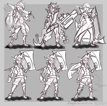 COURSE WORK- Character designs by Alphagusta