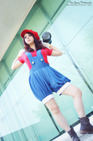 fem Mario Bros cosplay by Queen-Stormcloak
