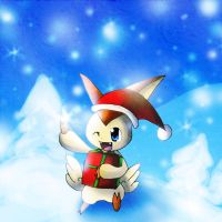 Victini in Winter by Chibixi