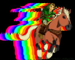 Link and Epona-Finished by ArtBeginsHere