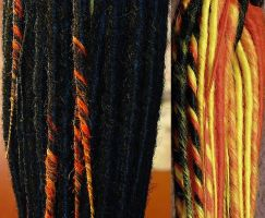 Krissys Fire Dreads by miss-candi